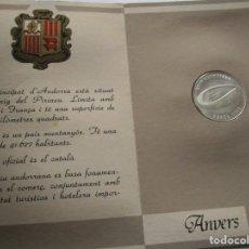 Monedas medievales: ANDORRA . CARTERA OFICIAL CON MONEDA DE 20 DINERS DE PLATA . CONJUNTO PERFECTO. Lote 186119928