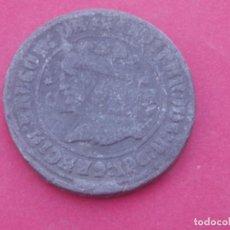 Monedas medievales: MONEDA DE PLOMO ANTIGUA REY FERNANDO II ARAGÓN A IDENTIFICA.. Lote 188491322