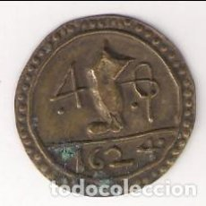 Monedas medievales: PELLOFA DE 4 SOU DE 1624 DE OLOT INCUSA DE LLAUTÓ (LATÓN). CATÁLOGO CRUSAFONT-1905. EBC- (MC11).. Lote 192566068