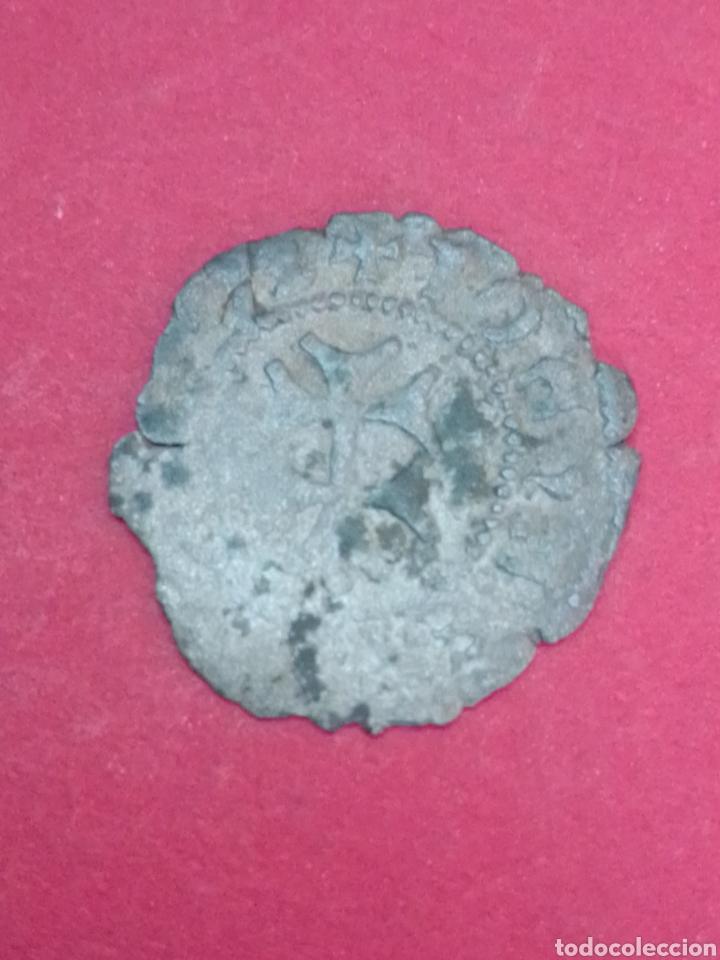 Monedas medievales: JUANA Y CARLOS, DINERO DE ARAGÓN. VELLÓN. - Foto 2 - 194182491
