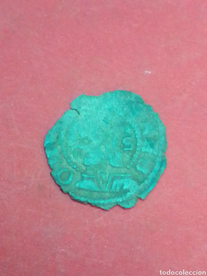 JUANA Y CARLOS, DINERO DE ARAGÓN. VELLÓN. (Numismática - Medievales - Cataluña y Aragón)