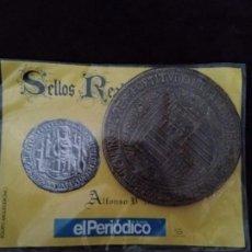 Monedas medievales: SELLOS REALES DE ARAGON. ALFONSO V (1445). REPRODUCCION.. Lote 194946743
