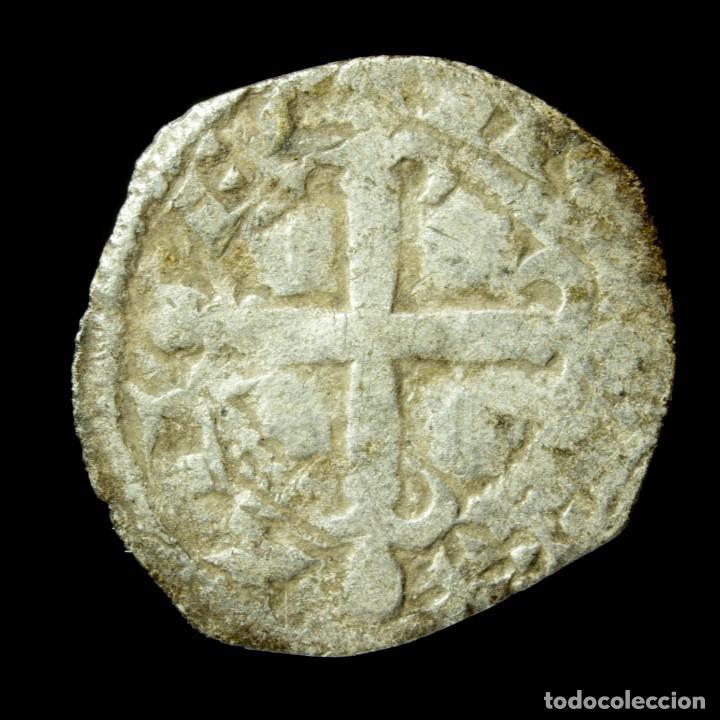 Monedas medievales: Alfonso IX, Dinero ceca E Vertical (BAU 225.1), 15 mm / 0.68 gr. - Foto 2 - 195090460