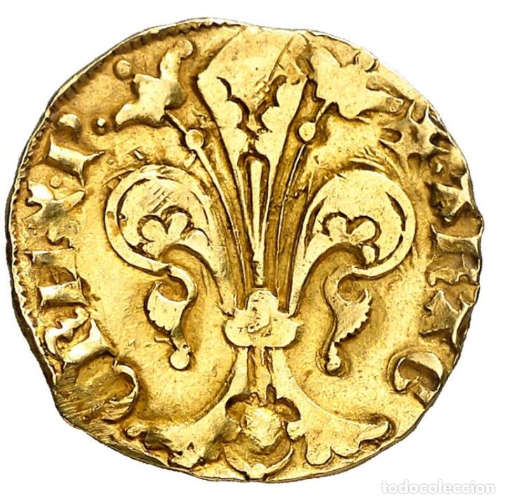 Monedas medievales: Florín de Pere III (1336-1387) - Barcelona - 3,45g Au - MBC - Se adjunta certificado de Autenticidad - Foto 2 - 197751642