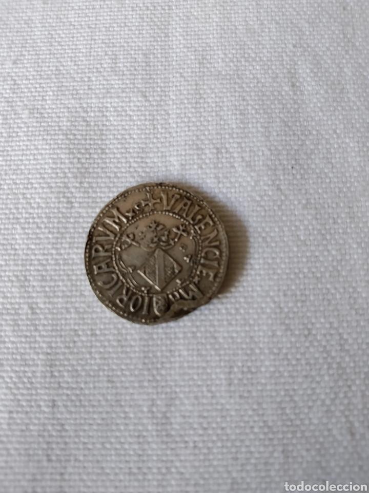 Monedas medievales: MONEDA DE PLATA DE CARLOS I MAIORICA VALENCIE - Foto 4 - 203182720
