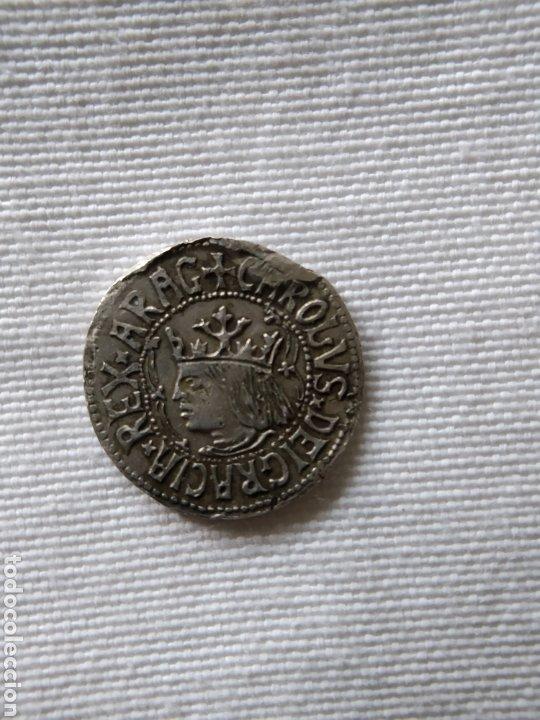 MONEDA DE PLATA DE CARLOS I MAIORICA VALENCIE (Numismática - Medievales - Cataluña y Aragón)
