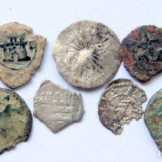 Monedas medievales: E520 LOTE 9 MONEDAS MEDIEVALES CASTILLA, CATALUÑA, VALENCIA, AL-ANDALUS... INC PLATA. Lote 204733976