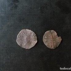 Monedas medievales: 2 VELLONES DE PLATA JAIME II Y PEDRO I CATALUÑA Y ARAGON PLATA. Lote 210717152