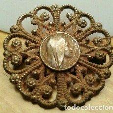 Monedas medievales: BONITO BROCHE MEDIEVAL DE PLATA. Lote 215965713