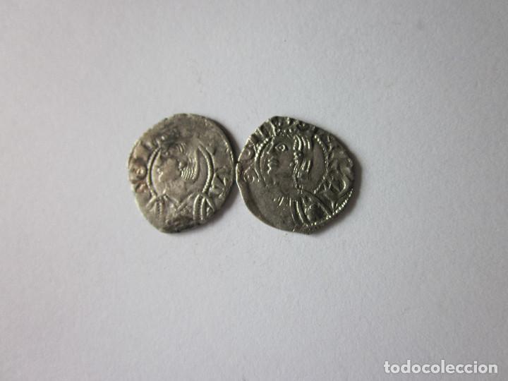 2 DINEROS DE ARAGÓN. JAIME II Y PEDRO IV. BONITOS. (Numismática - Medievales - Cataluña y Aragón)