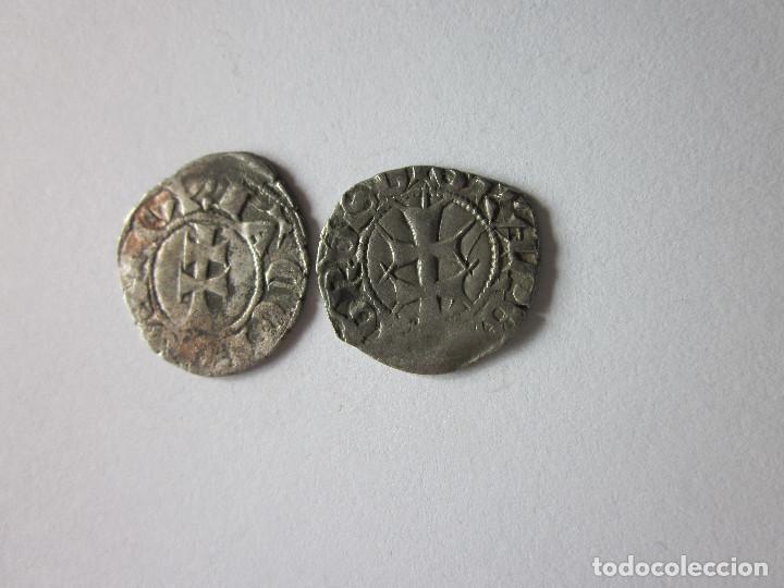 Monedas medievales: 2 Dineros de Aragón. Jaime II y Pedro IV. Bonitos. - Foto 2 - 216889660