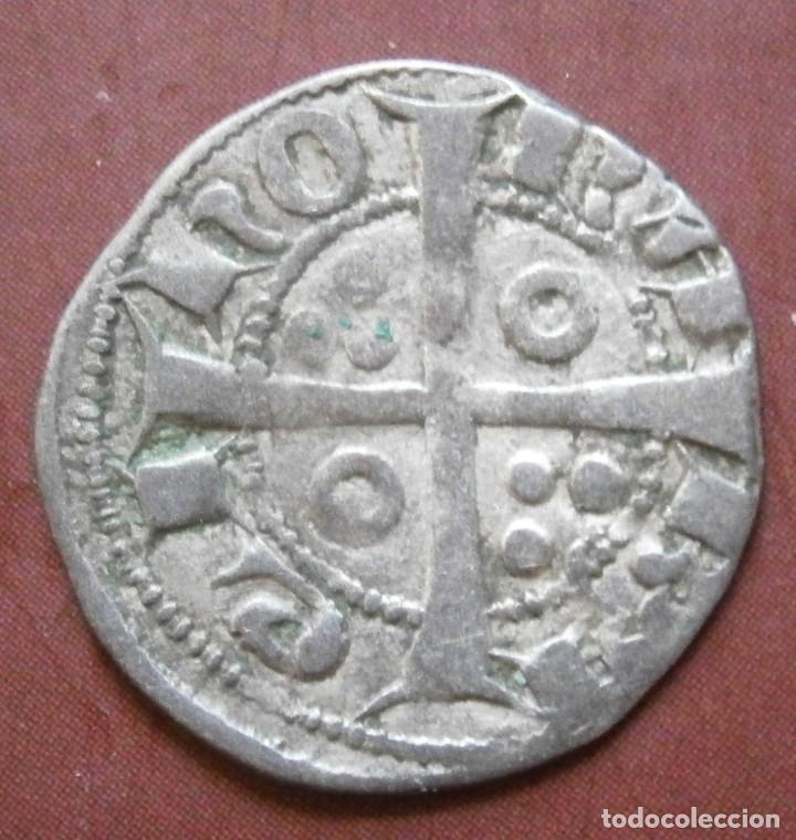 Monedas medievales: Moneda Dinero de Jaime II Ceca de Barcelona - Foto 2 - 238822045