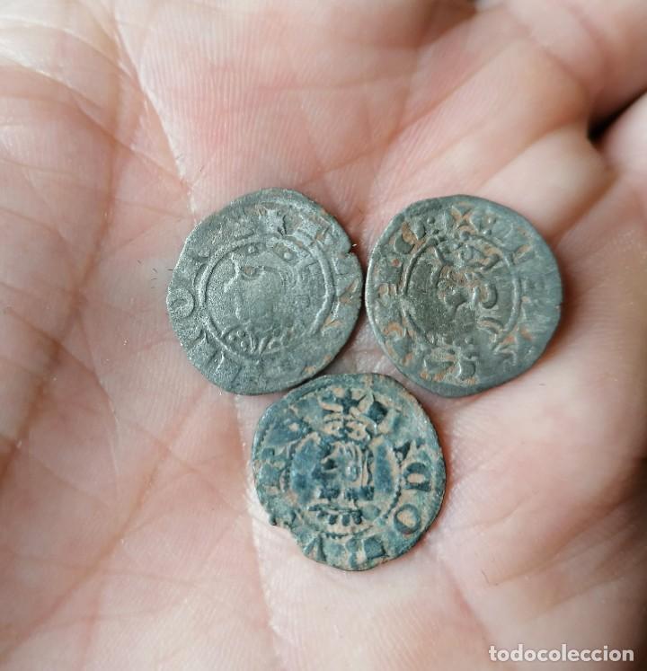 LOTE 3 MONEDAS DE VELLÓN BARCELONA JAIME I Y II (Numismática - Medievales - Cataluña y Aragón)