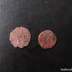Monedas medievales: 2 MONEDAS MEDIAVALES BELLON JAIME I Y DINER JOANA Y CARLOS. Lote 246271460