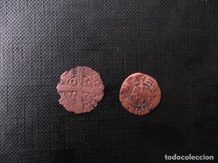 Monedas medievales: 2 monedas mediavales bellon Jaime I y diner Joana y Carlos - Foto 3 - 246271460