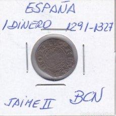 Monedas medievales: MONEDA DE ESPAÑA DE 1 DINERO DE JAIME II AÑOS 1291-1327. Lote 247736850
