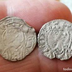 Monedas medievales: LOTE 2 DINEROS DE VELLÓN JAIME I Y II ARAGON. Lote 254020695