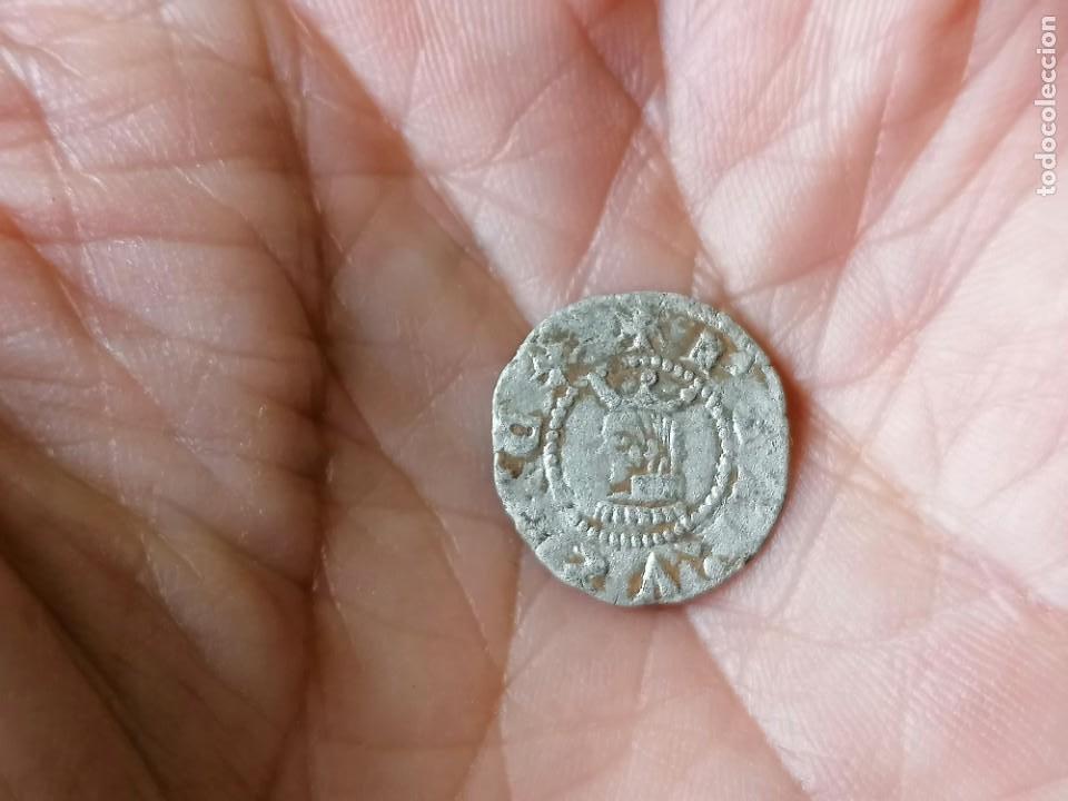 DINERO PEDRO III. BARCELONA SIGLO XIV (Numismática - Medievales - Cataluña y Aragón)
