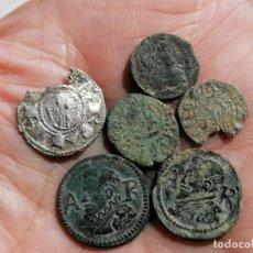 Monedas medievales: LOTE 6 DINEROS Y ARDITES CATALUÑA,. Lote 257570215