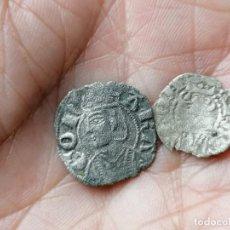 Monedas medievales: LOTE DE DINERO Y OBOLO JAIME I Y II ARAGON. Lote 257585930