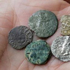 Monedas medievales: LOTE 5 DINEROS CATALANES. Lote 257587390