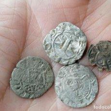 Monedas medievales: LOTE 4 DINEROS DE VELLÓN CATALANAS. Lote 257673160