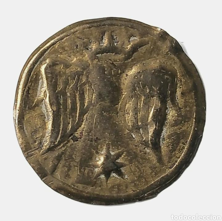 MONEDA LOCAL CATALANA. PELLOFA DE OLOT (GIRONA). CRUS. 1897. (Numismática - Medievales - Cataluña y Aragón)
