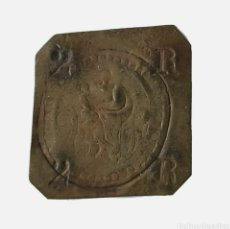 Monedas medievales: MONEDA LOCAL CATALANA. PELLOFA 2 RALS. LA SEU DE MANRESA. 2R 2R . CRUS.1799. Lote 261266900