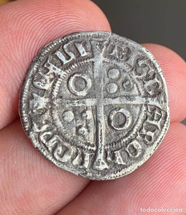 Monedas medievales: Alfons III (1327-1336). Barcelona Croat. (Cru.V.S. 346) (Cru.C.G. 2182) Variante - Foto 9 - 266882374
