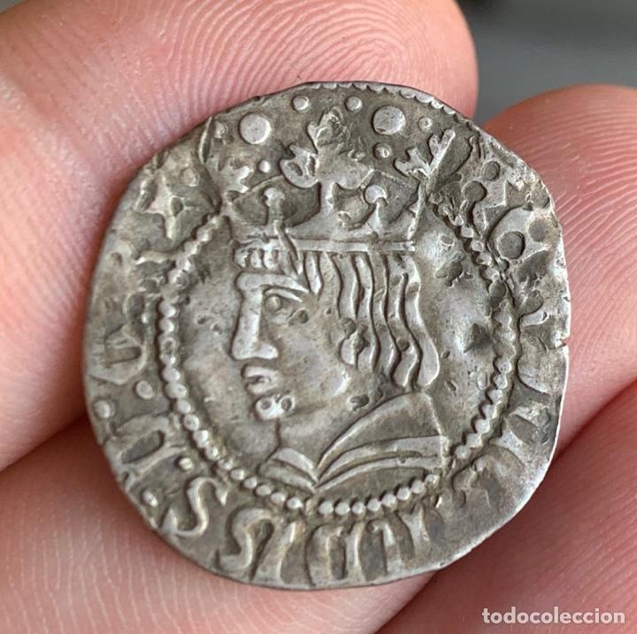 CROAT FERRAN II BARCELONA MEDIEVAL 1479-1516 CRU.V.S. 1139.1) (BADIA 679 VAR) (Numismática - Medievales - Cataluña y Aragón)