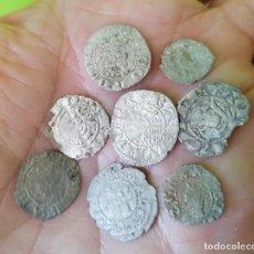 Monedas medievales: LOTE 8 DINEROS DE VELLÓN CATALUÑA, ARAGON, VALENCIA. Lote 269001819