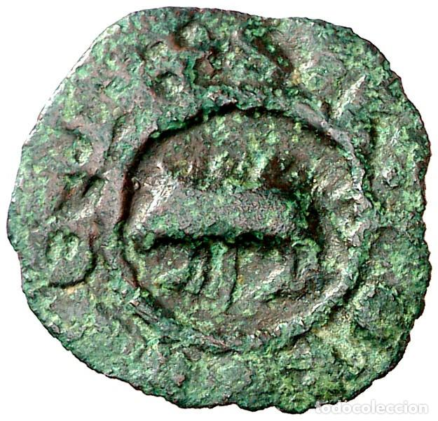 (POSTERIOR A 1328). PONTS. PUGESA INCUSA. (CRU.V.S. FALTA) (CRU.L. FALTA) (CRU.C.G 3817) ESCASA EBC- (Numismática - Medievales - Cataluña y Aragón)