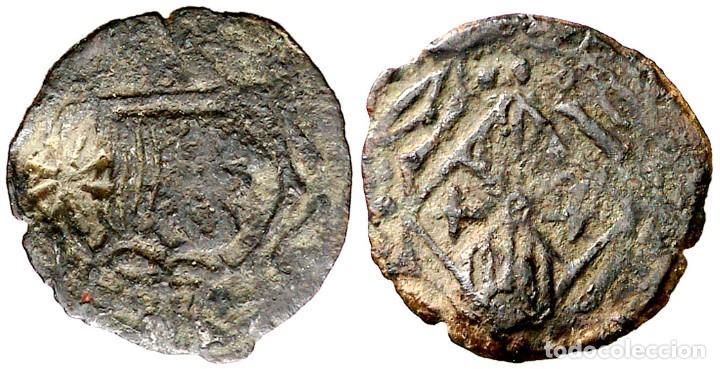 VIC. DINER. (CRU.L. 2235, MISMO EJEMPLAR) (CRU.C.G. 3897A, MISMO EJEMPLAR). MUY ESCASA. 0,56 G. MBC- (Numismática - Medievales - Cataluña y Aragón)