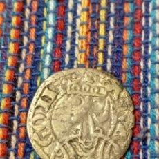 Monedas medievales: DINERO DE JAIME I EL CONQUISTADOR (1213-1276) CECA DE ARAGÓN CON FICHA DE COLECCIÓN ANTIGUA. Lote 277460668