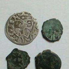 Moedas medievais: JAIME I -ARAGON- CORNADO Y 3 DINEROS. Lote 289309843