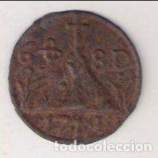 Monedas medievales: PELLOFA DE 6 SOU DE 1719 DE OLOT INCUSA DE HOJALATA. CATÁLOGO CRUSAFONT-1908. MBC. (MC12).. Lote 294825648