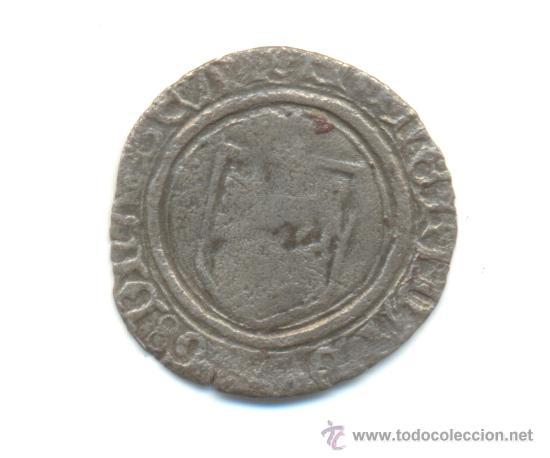RARA BLANCA DE CATALINA DE NAVARRA (1483-1517) SEÑORÍO DE BEARN RESELLO B (Numismática - Medievales - Navarra)