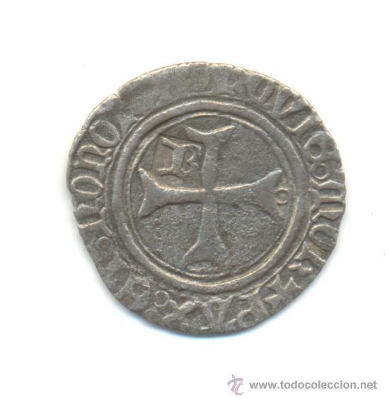 Monedas medievales: RARA BLANCA DE CATALINA DE NAVARRA (1483-1517) SEÑORÍO DE BEARN RESELLO B - Foto 2 - 28545613