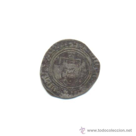RARA BLANCA DE VELLÓN DE CATALINA DE NAVARRA (1483-1517) BEARN (Numismática - Medievales - Navarra)