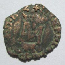 Monedas medievales: MARGARITA DE VALOIS/ HENRI III (1572/99)-LIARD -PAU (VACA). Lote 52788977