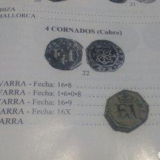 Monedas medievales: 4 CORNADOS FELIPE III. Lote 76812794