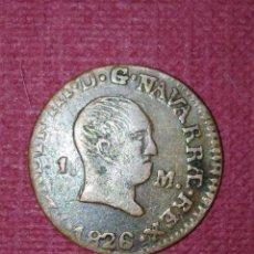 Monedas medievales: 1 MARAVEDÍ 1826 FERNANDO VII - PAMPLONA. Lote 96009027