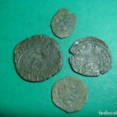 Monedas medievales: LOTE DE CUATRO MONEDAS. Lote 106222035