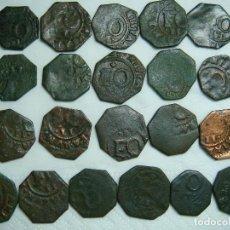 Monedas medievales: LOTE DE 21 MONEDAS DE FERNANDO VI, II DE NAVARRA . Lote 112229187