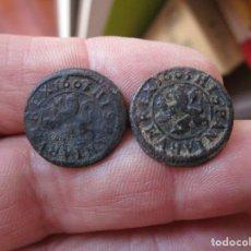 Monedas medievales: LOTE DE 2 MONEDAS DE FELIPE III. Lote 134273050
