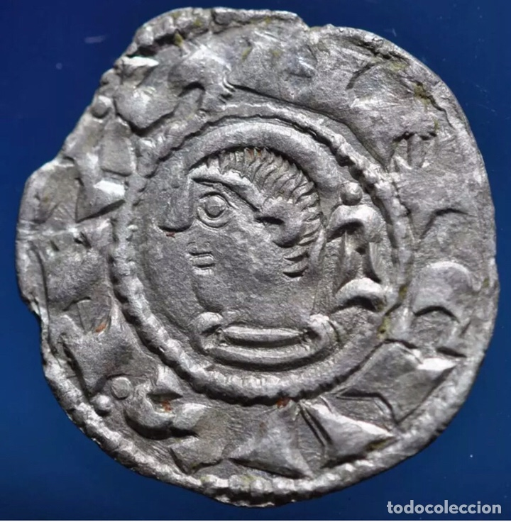 SANCHO VLL EL FUERTE ( 1194-1234) NAVARRA NAVARRORVM VARIANTE RARÍSIMA LUNA MACIZA (Numismática - Medievales - Navarra)