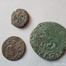 Monedas medievales: LOTE DE 3 COBRES ESPAÑOLES DISTINTOS REYES. Lote 155779226
