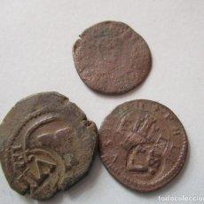 Monedas medievales: LOTE DE 3 COBRES ESPAÑOLES. Lote 155785546