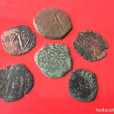 Monedas medievales: LOTE DE 6 MONEDAS DE LOS AUSTRIA DE LA CECA DE NAVARRA, ACUÑADAS EN COBRE. Lote 173554948