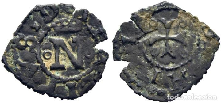 FERNANDO V. 1513-1516. PAMPLONA. BLANCA. CY NO CITA. EBC+. MUY RARA (Numismática - Medievales - Navarra)